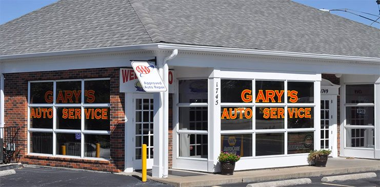 Front of the shop - Gary's Auto Service